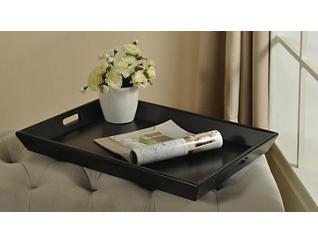 Black Wood Tray - Rectangular, , large