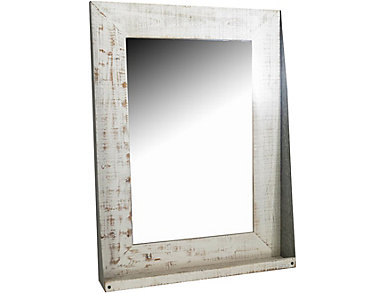 Wood and Iron Wall Mirror, , large