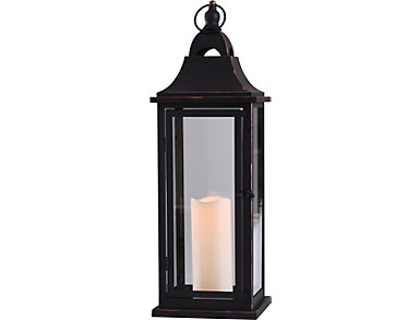 Brushed Metal Candle Lantern, , large