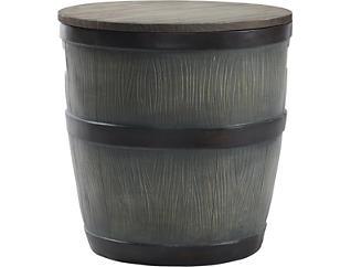 Barrel Stool with Storage, , large