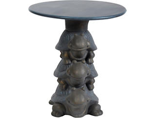 Piggy-Back Turtle Accent Table, , large