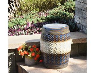 In/Out Ceramic Garden Stool, , large