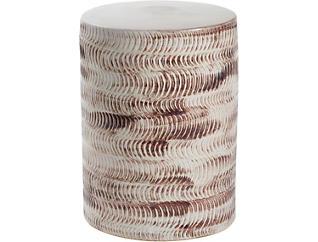 Textured Ceramic Garden Stool, , large