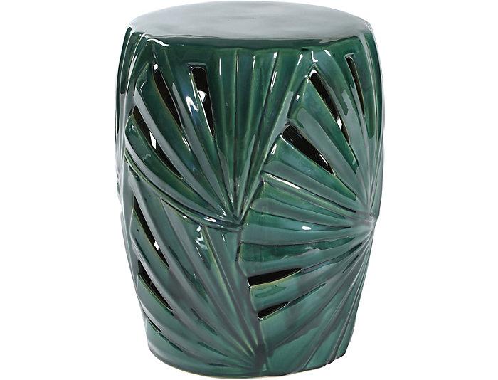 Wondrous Palm Leaf Ceramic Garden Stool Ncnpc Chair Design For Home Ncnpcorg