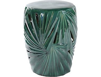 Palm Leaf Ceramic Garden Stool, , large