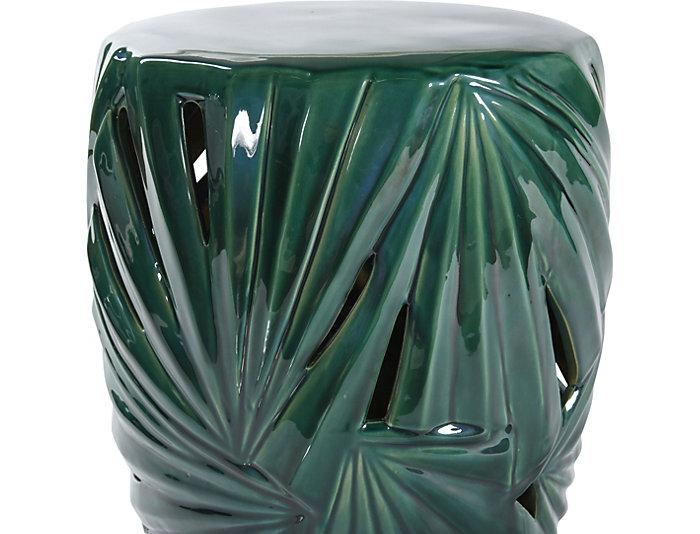 Marvelous Palm Leaf Ceramic Garden Stool Ncnpc Chair Design For Home Ncnpcorg