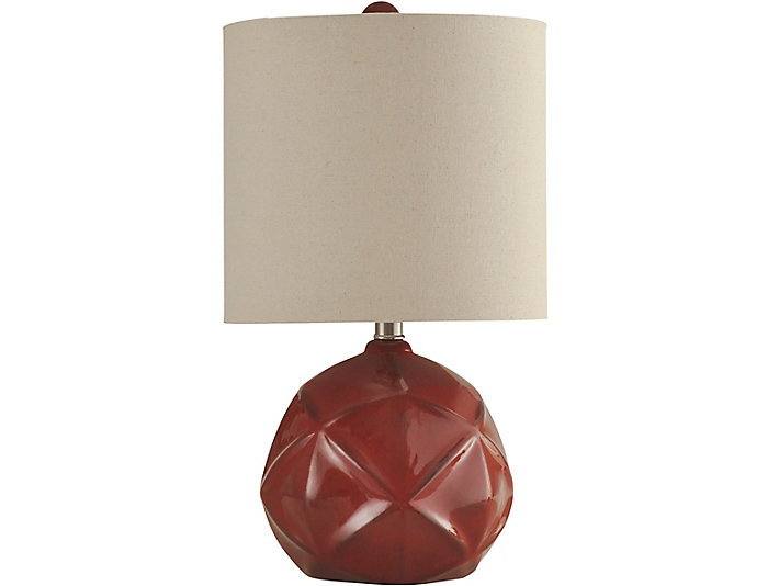 Orson Red Table Lamp Art Van Home