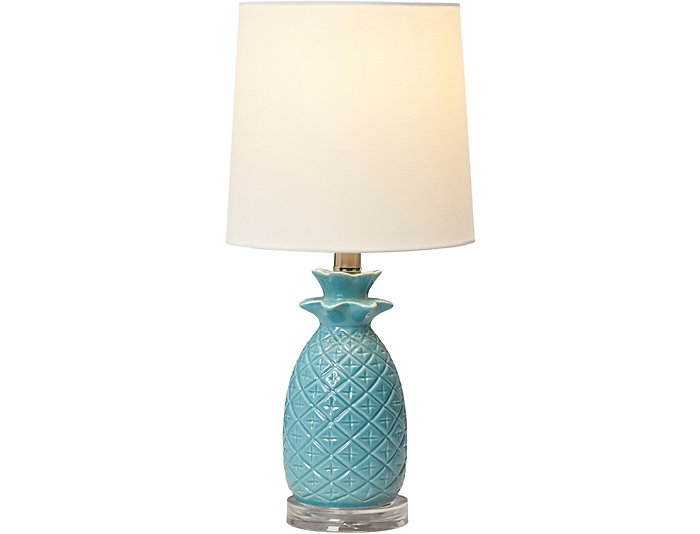 Turquoise Pineapple Table Lamp, , large