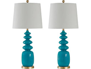 Pair of Bluenote Table Lamps, , large