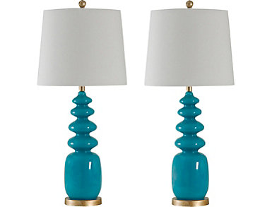 Elegant Bluenote Table Lamp (Set Of 2)
