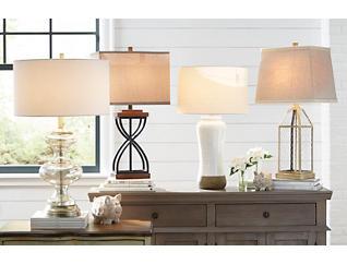Metal X Table Lamp, , large