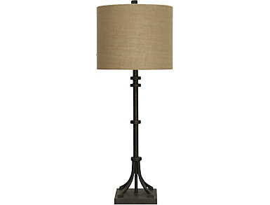 Industrial Bronze Table Lamp, , large