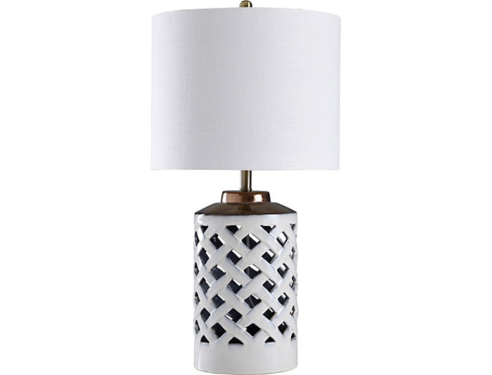 Lattice Table Lamp Art Van Home