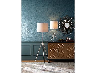 Steel Tripod Floor Lamp, , large