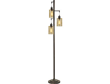 Percy Glass Shade Floor Lamp, , large