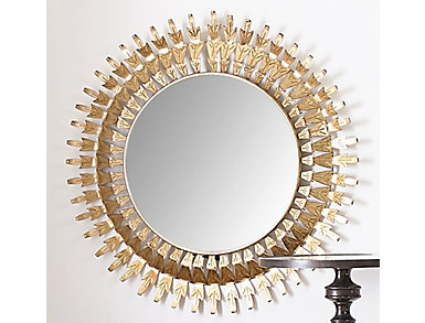 Antique Gold Foil Mirror, , large