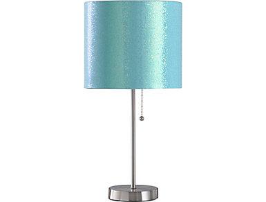Aqua Sparkle Table Lamp, , large