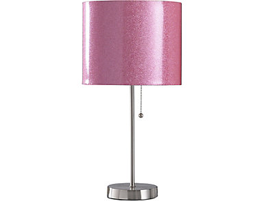 Pink Sparkle Table Lamp, , large