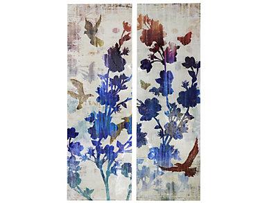 Bird & Floral Canvas - Set/2, , large