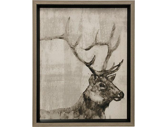 Elk Wall Art - Sepia | Art Van Home