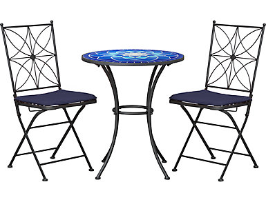 BISTRO SET BLUE, , large