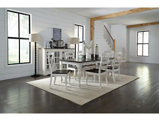 Carriage House Cream Dining Table, , large
