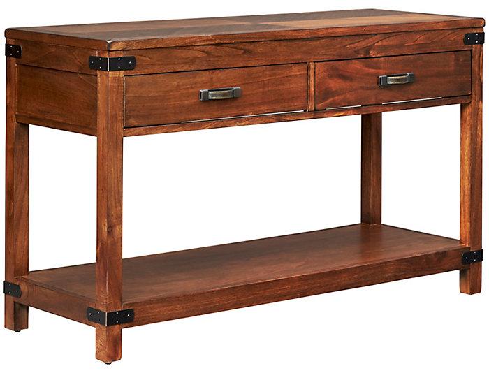 Safari Sofa Table, Brown, , large