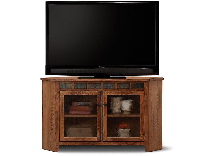 Rustic Corner TV Console, , large