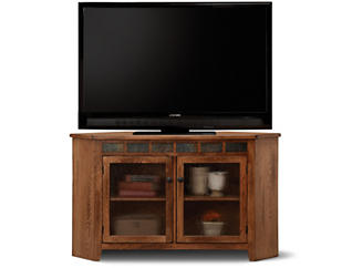 Rustic Corner TV Console, , large