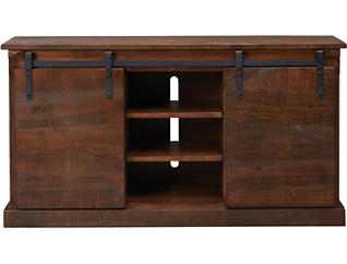 "Dalton II 65"" Chocolate TV Stand, Brown, large"