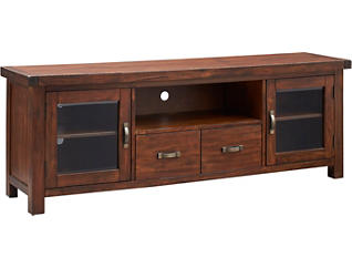 "Weston 74"" Vintage Mahogany TV Stand, , large"