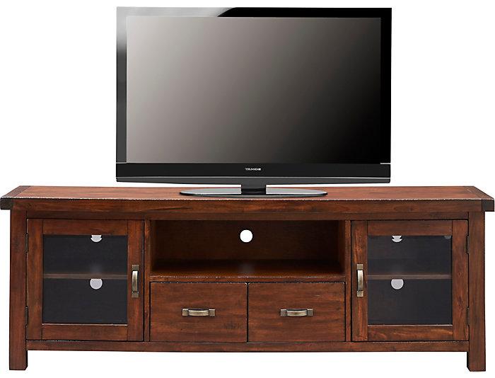 "Weston 74"" Vintage Mahogany TV Stand, , large"
