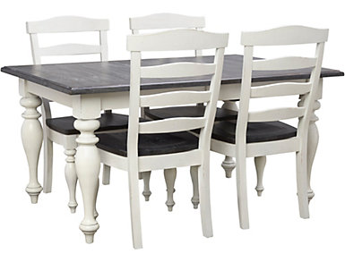 Carriage House Table and 4 Ladderback Chairs, , large