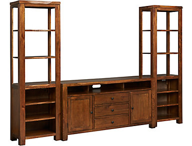 """Norris Nature Walk Wall with 64"""" TV Stand, , large"""