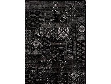 Amadeo Black & Grey 5x8 Rug, , large