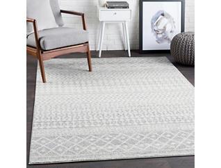 Elaziz Grey/White 5' x 8' Rug, , large