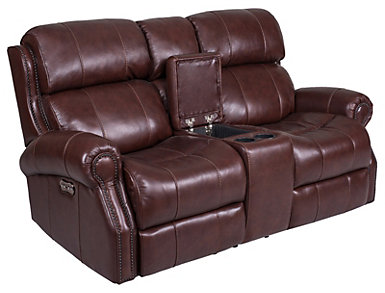 Ethan Dual Power Console Loveseat, , large