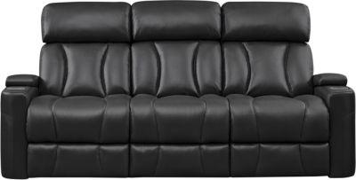 Jolt Dual Power Reclining Sofa, Black, swatch