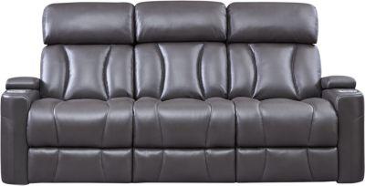 Jolt Dual Power Reclining Sofa, Grey, swatch