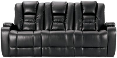 Matrix Power Reclining Sofa, Black, swatch