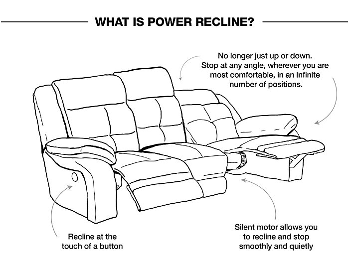 Matrix Power Reclining Sofa, Black, Black, large