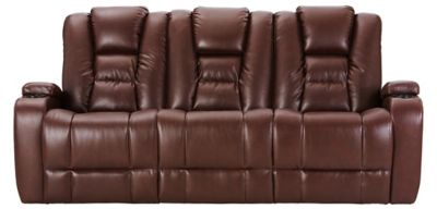 Matrix Power Reclining Sofa, Brown, swatch