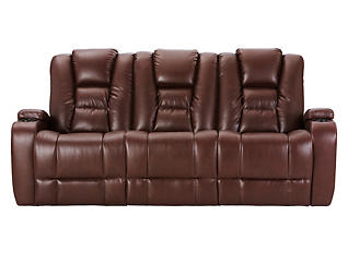 Matrix Power Reclining Sofa, Brown, large