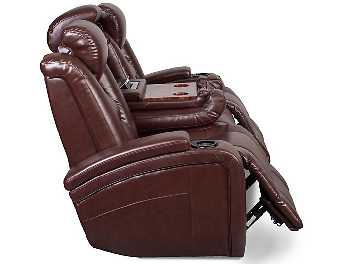 Matrix Power Reclining Sofa, Brown, Brown, large