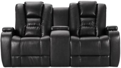 Matrix Power Recl Loveseat, Black, swatch