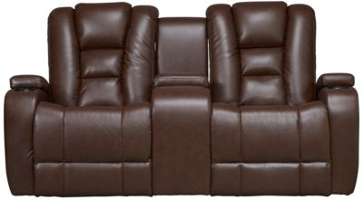 Matrix Power Recl Loveseat, Brown, swatch
