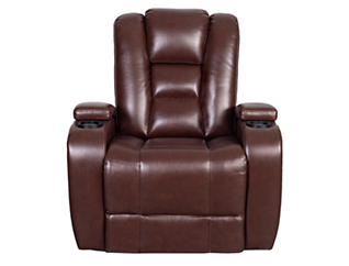Matrix Power Recliner, Brown, large