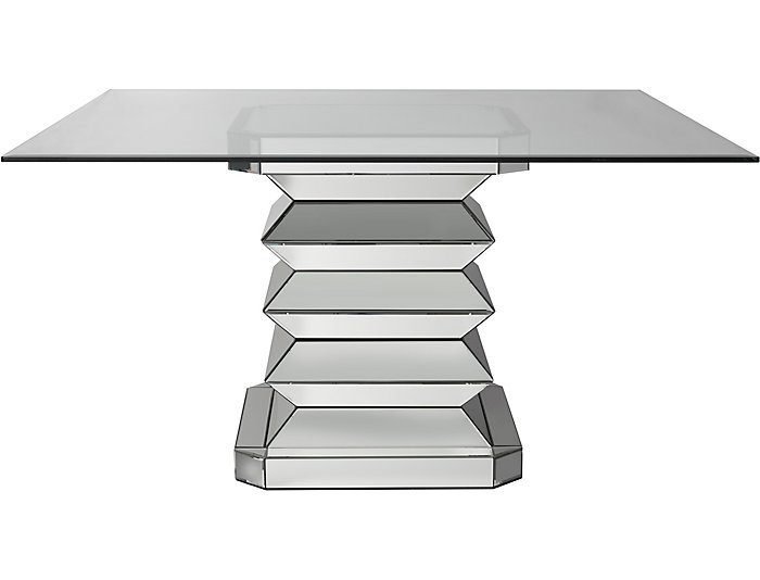 Mirrored Dining Glass Table, , large