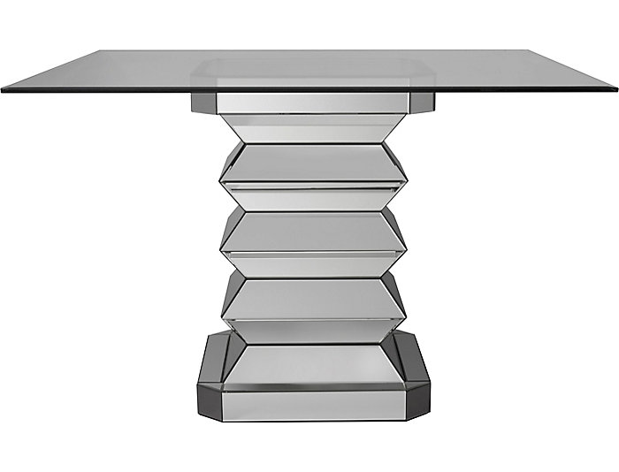Mirrored Gathering Glass Table, , large