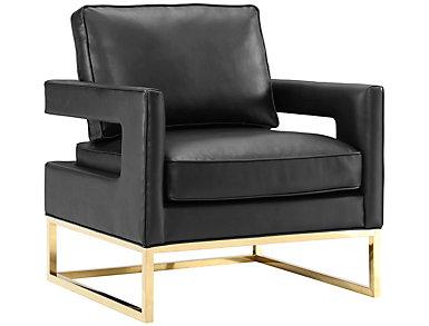 Avery Velvet Chair, Black, Black, large